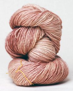 Madeline Tosh merino in dusk, the perfect pink.