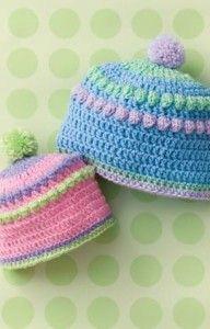 Baby Bobble Hats - The Crochet Crowd
