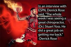 Derrick Rose on Chiropractic Care