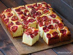 Ciasto wystarczy zamieszać i gotowe Sweet Bakery, Pepperoni, Cheesecake, Pizza, Cooking Recipes, Keto, Sweets, Bread, Desserts