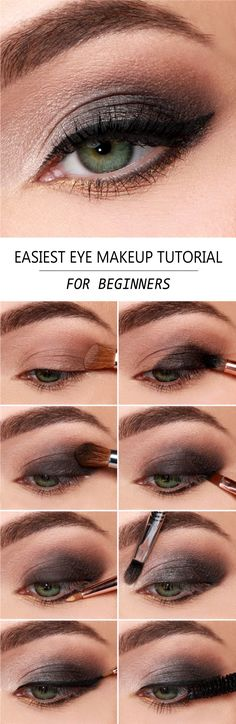 If you want to use a dark shadow underneath, then use fluffy brush and brush out the eyeshadow. If you are just learning how to use makeup, you should start with neutral eyeshadows, instead of colorful ones.  #hairstraightenerbeauty   #eyemakeuptutorial   #eyemakeuptutorialforbeginners   #eyemakeuptutorialstepbystep   #eyemakeuptutorialnatural   #eyemakeuptutorialbrown   #eyemakeuptutorialblue