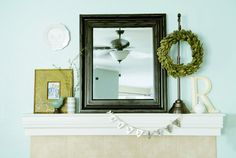 super cute mantel with 'simplify' banner from @croskelley