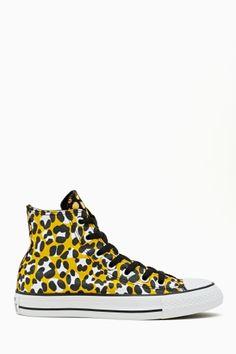 Converse All Star High-Top Sneaker - Leopard