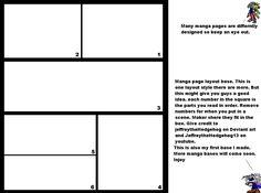 Manga page layout base by MoonwolfYouthOtaku.deviantart.com on @deviantART