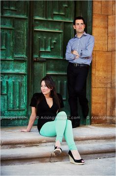 Looking fashionable and striking a pose at their awesome engagement shoot. Best engagement photos in michigan! #cranbrook #engagement #unique #style #love