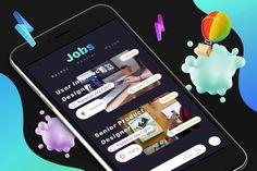 Jobs 1 Mobile Ui by on Envato Elements Job 1, Web Ui Design, User Interface Design, Ui Kit, Mobile Ui, Templates, App Ui, Stencils, Ui Design