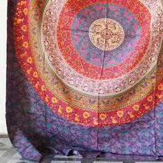 Indiase Floral Twin Mandala Boho etnische Hippie beddengoed Tapestry Boheemse strand gooien etnische muur opknoping Decor kleine beddelaken/Bedspread