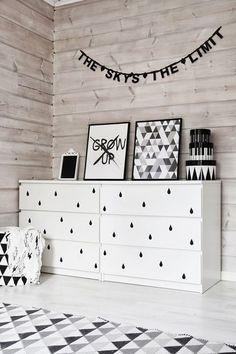 Distintas formas de usar y decorar con un basico de Ikea, las comodas Malm. Dejate Inspirar.