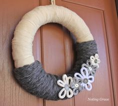 **Noting Grace**: Easy Knit Winter Wreath