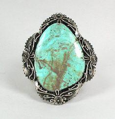 Native American Turquoise Jewelry | ... Native American Sterling Silver Navajo Kingman Turquoise Bracelet