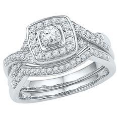 1/2 CT. T.W. Round Diamond Prong Set Bridal Ring in 10K White Gold (
