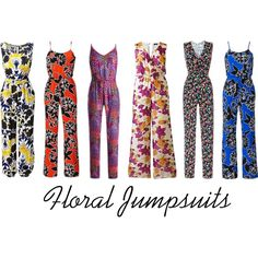 Floral Jumpsuits by simplybe on Polyvore