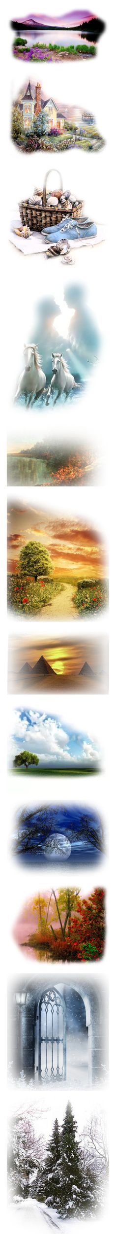 """""""fades for sets 2"""" by pokeasaurousrex ❤ liked on Polyvore featuring backgrounds, christmas, tubes, beach, fillers, flowers, effect, scenery, horses and animals"""