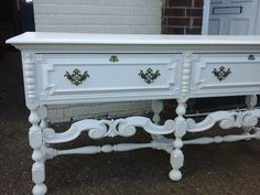 Table And Chairs, Sideboard, Entryway Tables, Buffet, Cabinets, Hand Painted, Facebook, Storage, Furniture
