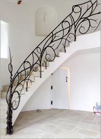Wrought Iron Stair R