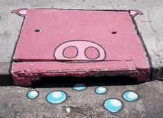 #6emeia #streetart  6eMeia Pérolas aos Porcos