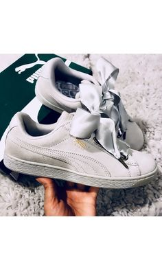 This❤️ #puma #suede #satin #sneakers #ribbon #streetstyle