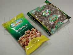 Dried fruits (almonds, pistachio nut, hazelnuts, peanuts, walnuts, sunflower seeds) and vegetables packaging in vertical machine (VFFS) in p...