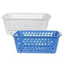 Large Rectangular Slotted Plastic Storage Basket  Unit Price: $1.00  Minimum Qty: 36  Dollartree.com