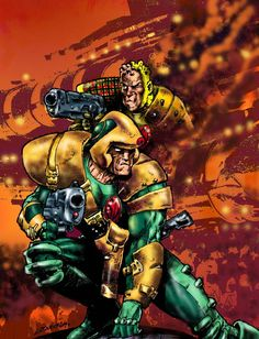 Johnny Alpha - Strontium Dog.  He was a favourite of mine.
