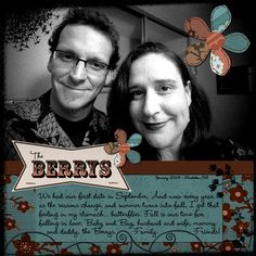 Scrapbook layout by Bunny Berry