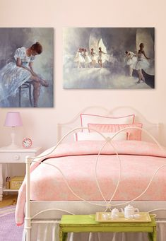 Ohh, these ballet canvases are perfect for a sweet little girl's room. #ballet #dance #art