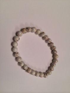 Howlite bracelet by zenbabyMama on Etsy, $8.00