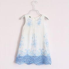 2016 Fashion New Girls Dress Summer Floral Clothes Kids Girl Dresses Princess Dress Vestidos