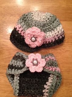 Newborn baby girl newsboy cap crochet hat & diaper by headcandy1, $32.00