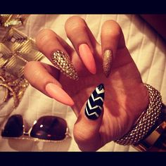 omg i have to get these staledos  sharp nails cuteeee