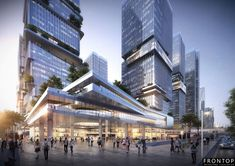 Still Image Factory - China Still Image Manufacturers, Suppliers Colour Architecture, Futuristic Architecture, Facade Architecture, Tower Building, High Rise Building, Building Design, Mall Facade, Future Buildings, Commercial Complex