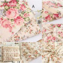 160*100 cm 100% tela de sarga de algodón ropa de cama de tela de tela de Flores DIY Rural Costura patchwork quilting telas(China (Mainland))