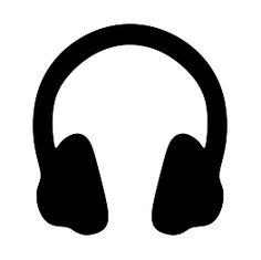 FREE SVG Headphones Silhouette