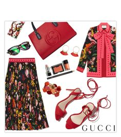 """Gucci Garden Collection Contest Entry"" by marion-fashionista-diva-miller ❤ liked on Polyvore featuring Gucci, Loeffler Randall, Garance Doré, gucci, contestentry and gardencollection"