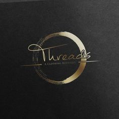 Main Name- Threads (smaller print - A Clothing Boutique) - Logo Design for Upscale Womens Clothing Boutique