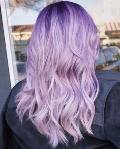 Fancy Balyage Hair Attractive Lavender And Purple Hair Colours In Ombre And Balayage in ucwords] Pastel Purple Hair, Dyed Hair Pastel, Hair Color Purple, Pastel Ombre, Hair Colours, Purple Wig, Balayage Hair Dark Blonde, Balyage Hair, Hair Color Balayage