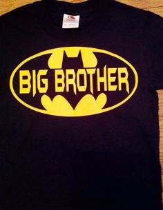 NEW Personalized Big Brother BATMAN T Shirt by ejahart on Etsy, $15.00