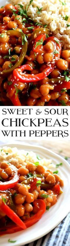 Sweet & Sour Chickpeas with Peppers ~ Lord Byron's Kitchen ♥