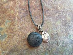 Mega Lava Stone with Charm - Essential Oil Diffuser Necklace