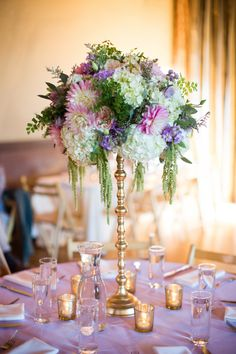 Spectacular Wedding Flower Ideas - MODwedding. This but in all rose and olive tones