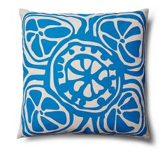 Slice 20x20 Outdoor Pillow, Blue | Perk Up the Patio | One Kings Lane