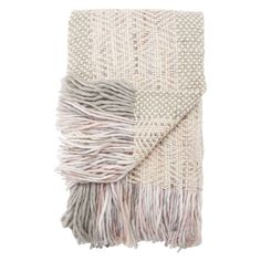 Ophelia Knit White/ Gray/ Pink Throw Inches X 60 Inches), Juniper Home Online Bedding Stores, Pink Throws, Eco Friendly Fashion, Knitted Throws, Acrylic Wool, New Home Designs, Joss And Main, Wool Blanket, All Modern