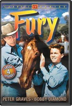 """FURY"" was on of my favorite Saturday morning TV Shows? Starred Bobby Diamond and Peter Graves of later fame for tv's Mission Impossible Peter Graves, Tv Retro, Horse Movies, Horse Books, Mejores Series Tv, Capas Dvd, Tv Westerns, Old Shows, Vintage Tv"