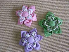 Como fazer artesanato: Broche de Flor de Fuxico - Passo a Passo