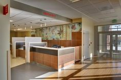 Staff areas get a touch of art with graphic prints at Kaiser Permanente Westside Medical Center. Photo: Stephen Cridland.