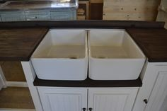 English Elegance unit with double butler sink