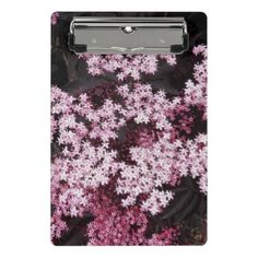#personalize - #Red Shrub Roses Floral Mini Clipboard