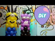 Como Fazer Minions de balões - How Minions balloons - YouTube