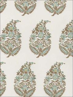 Rajasthan Paisley Mineral Wallpaper by Schumacher wallpaper