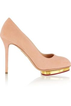 Charlotte Olympia - Dotty Suede Pumps - SALE20 at Checkout for an extra 20% off